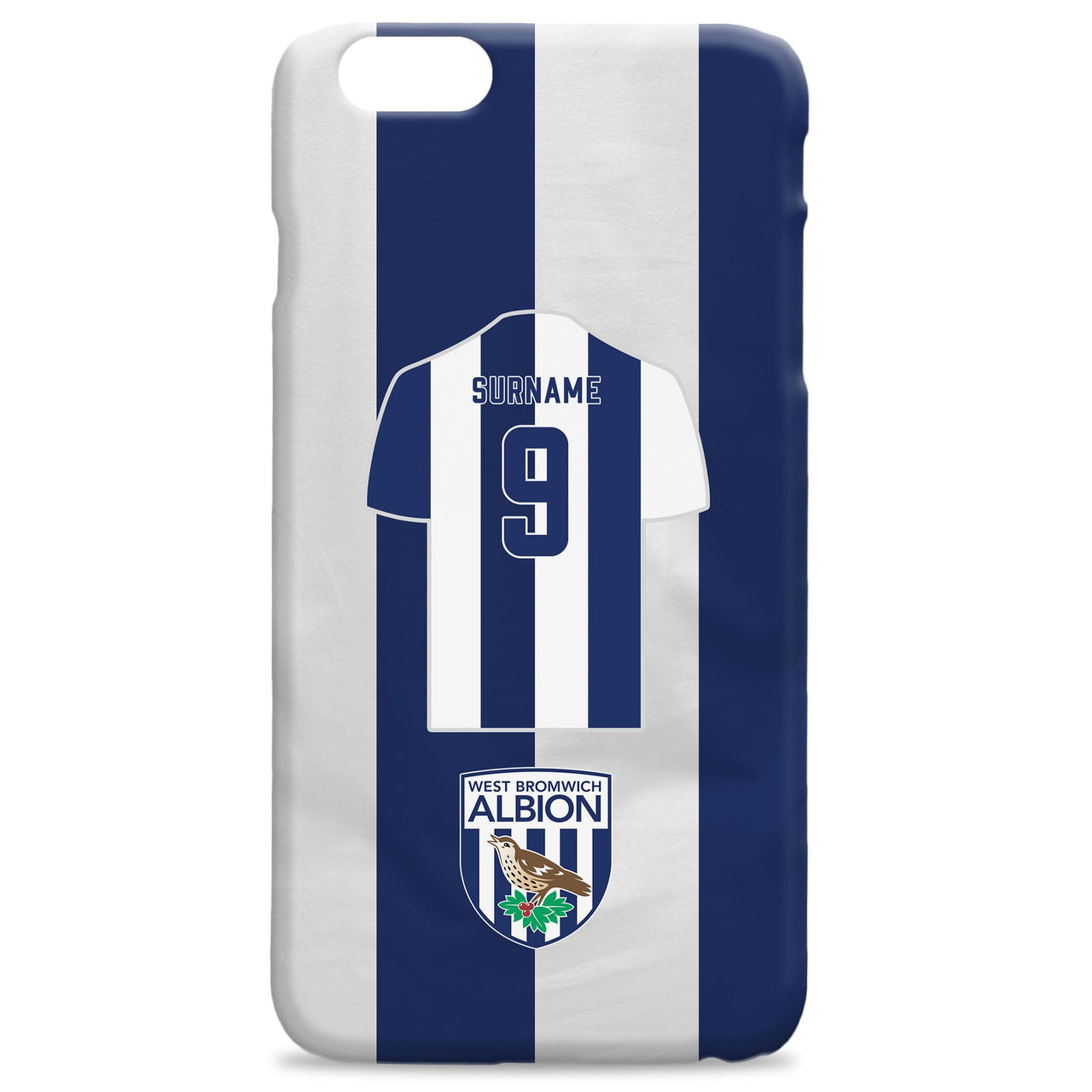 West Bromwich Albion FC Shirt Hard Back Phone Case, Gifts