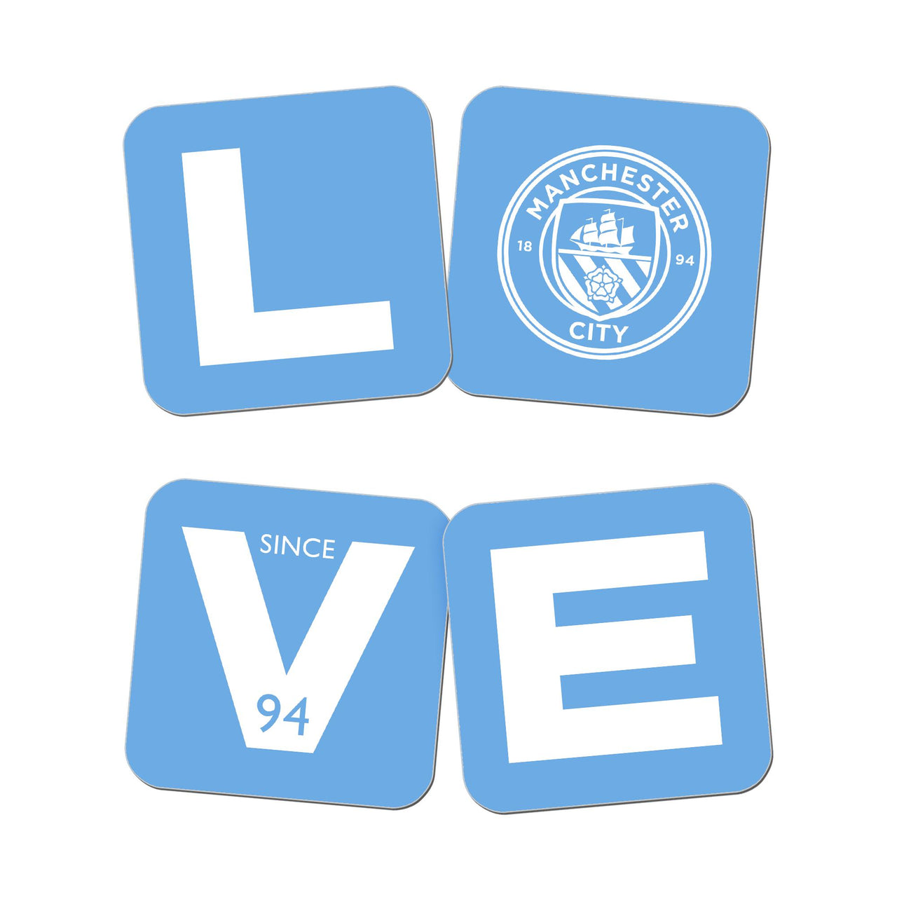 Manchester City Love Coasters Set