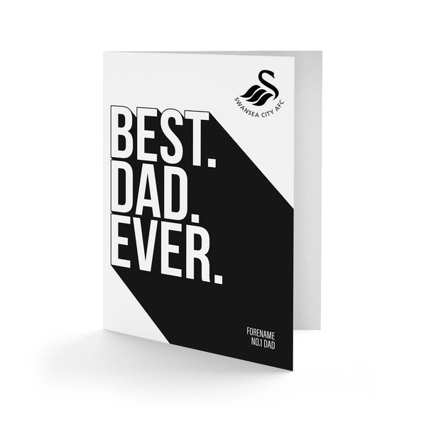 Swansea City Best Dad Ever Card
