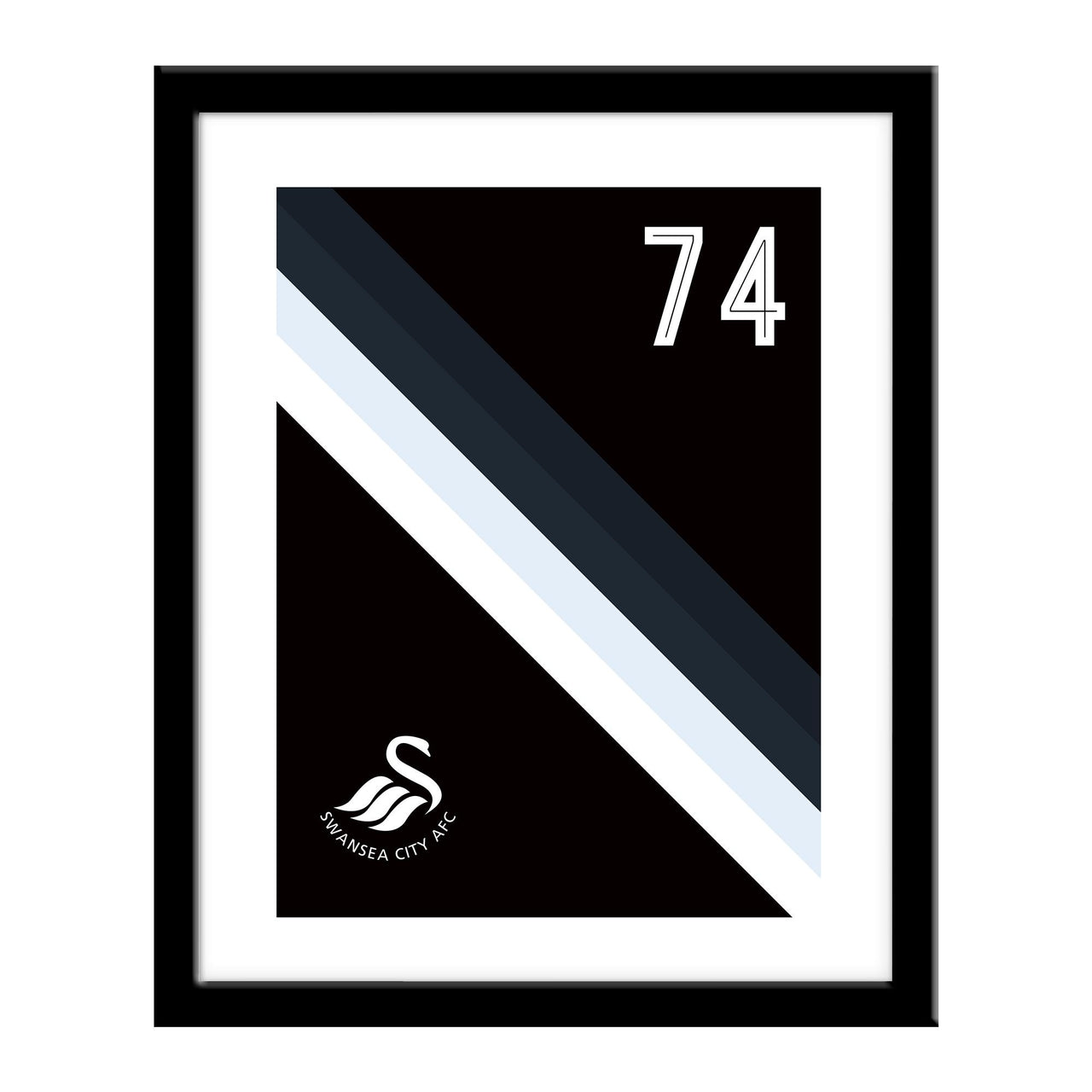 Swansea City Stripe Print