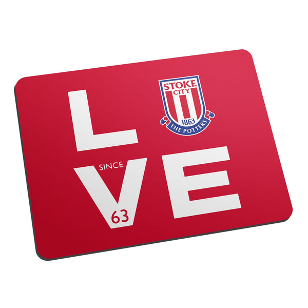 Stoke City FC Love Mouse Mat