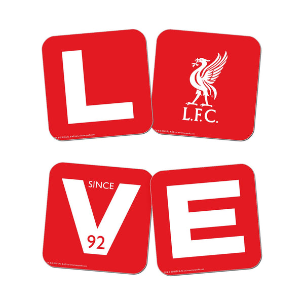 Liverpool FC Love Coasters (x4)