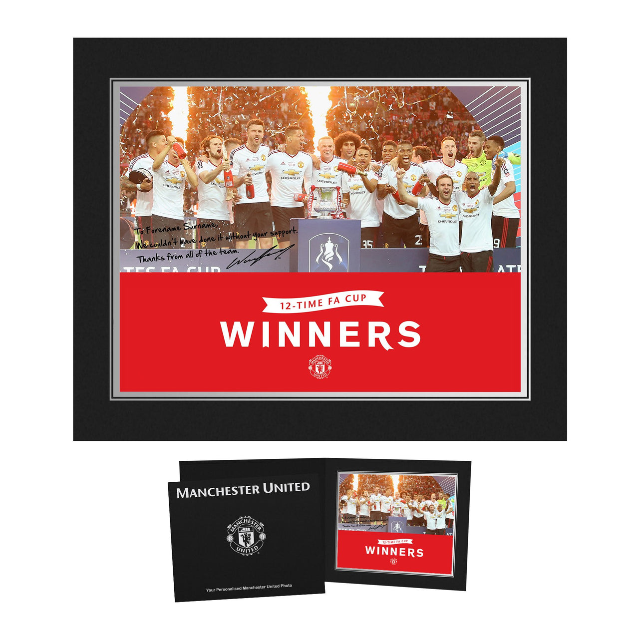 Manchester United FA Cup Winners 2016 Photo Folder