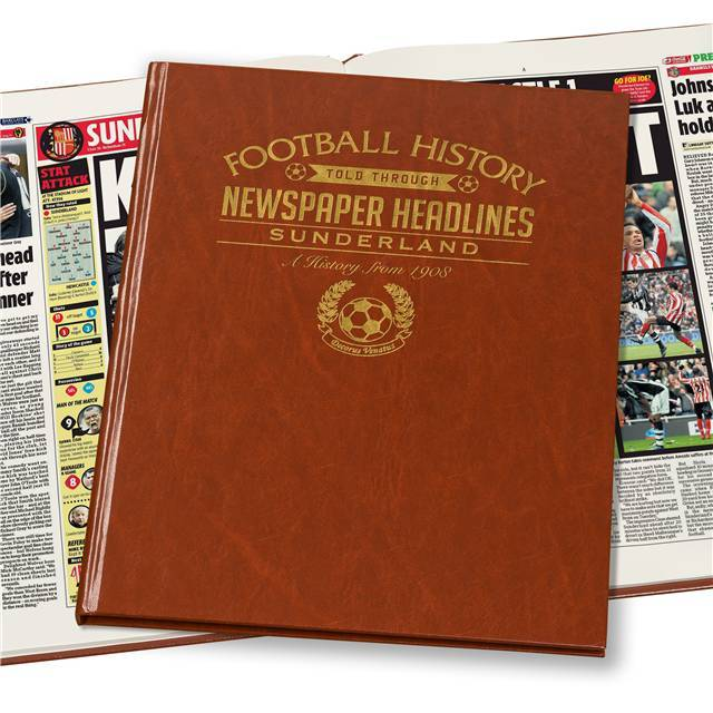 Sunderland Newspaper Book - Brown Leatherette (Colour Pages)