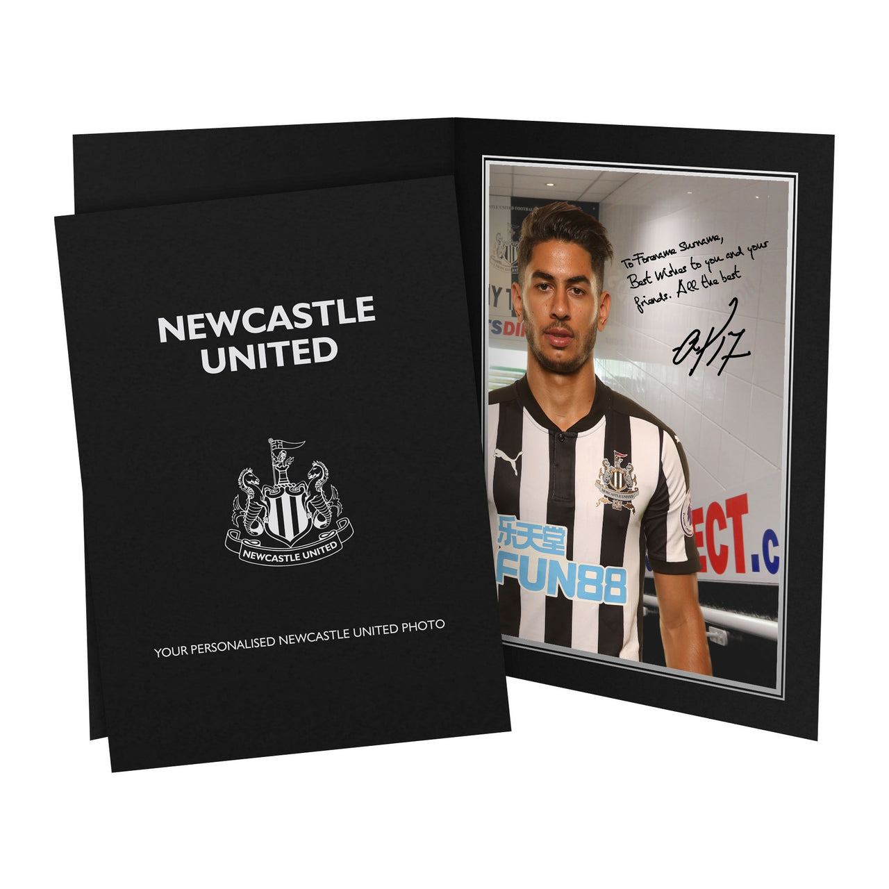 Newcastle United FC Perez Autograph Photo Folder