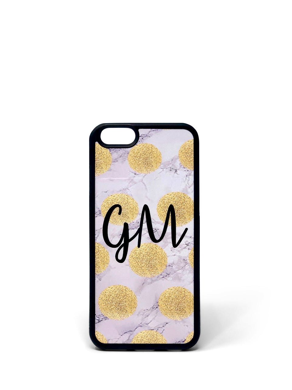 Phone Case - Gold Polka on Marble
