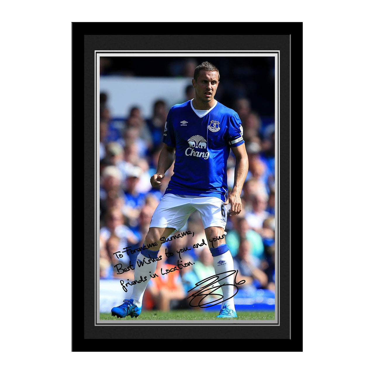 Everton FC Jagielka Autograph Photo Framed