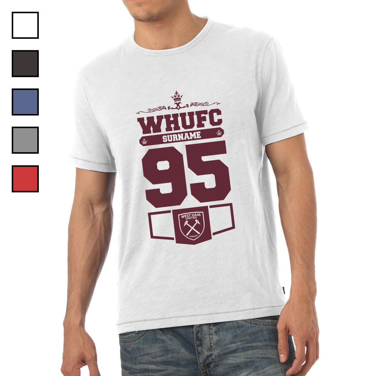 West Ham United FC Mens Club T-Shirt