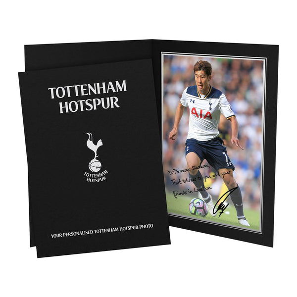 Tottenham Hotspur FC Son Autograph Photo Folder