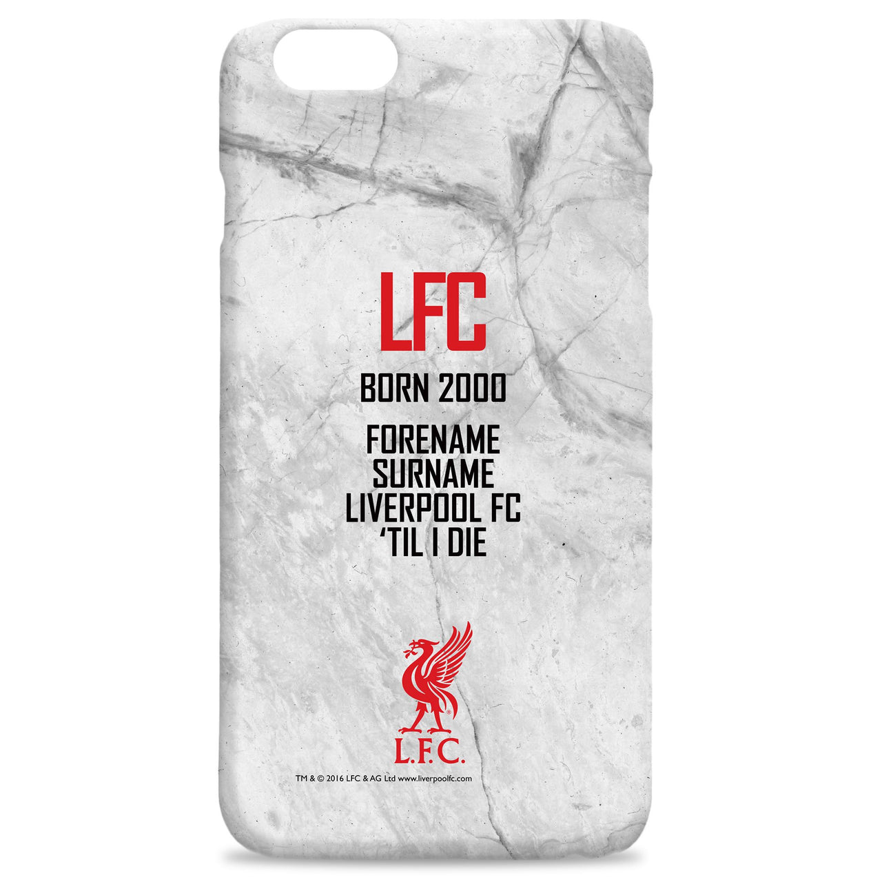 Liverpool FC 'Til I Die Hard Back Phone Case, Gifts