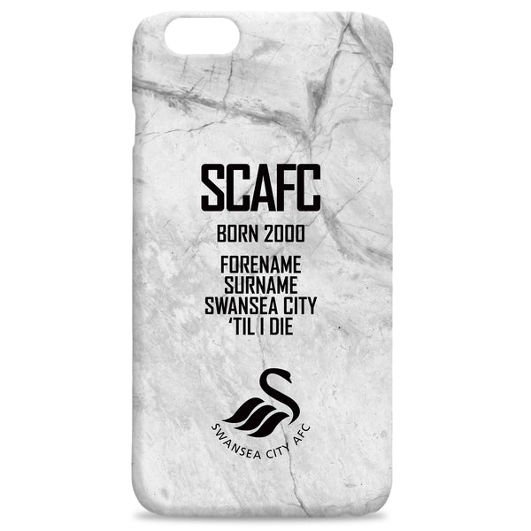 Swansea City AFC 'Til I Die Hard Back Phone Case, Gifts