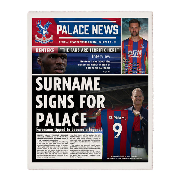 Crystal Palace FC News Single Page Print