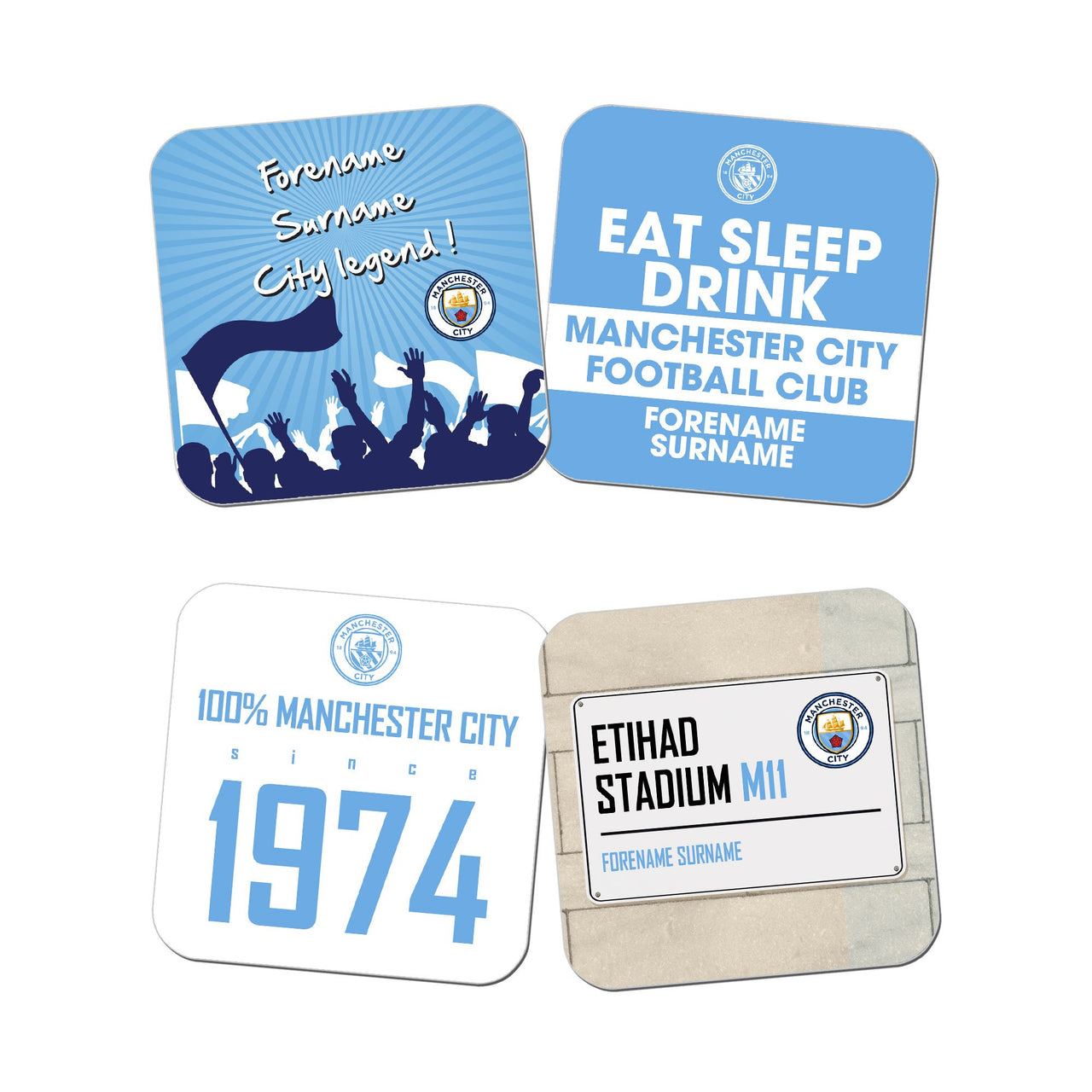 Manchester City FC Coasters