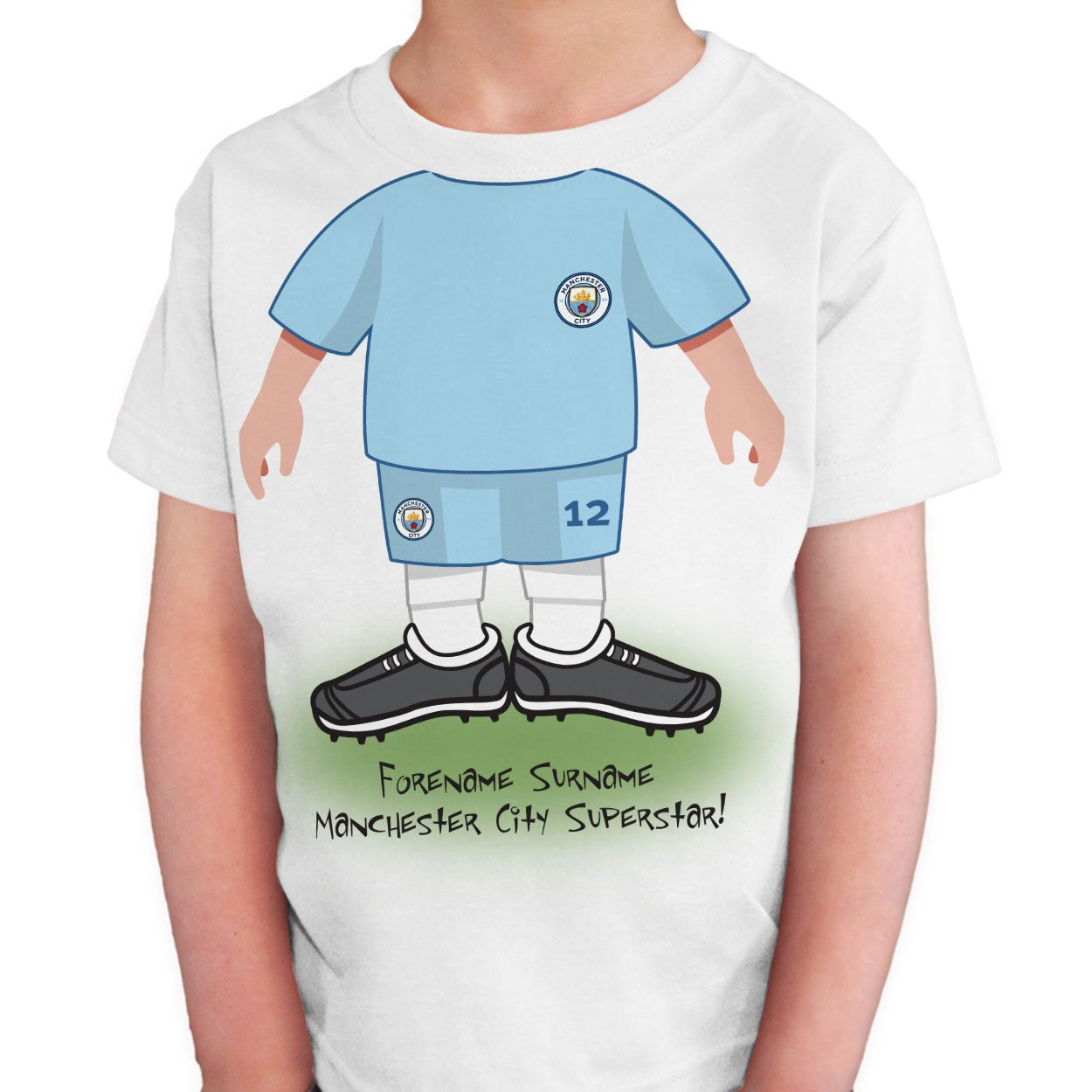 Manchester City FC Kids Use Your Head T-Shirt