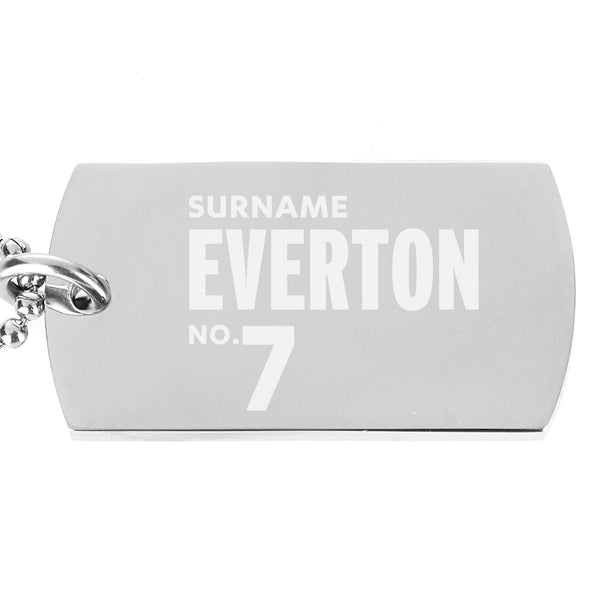 Everton FC Number Dog Tag Pendant