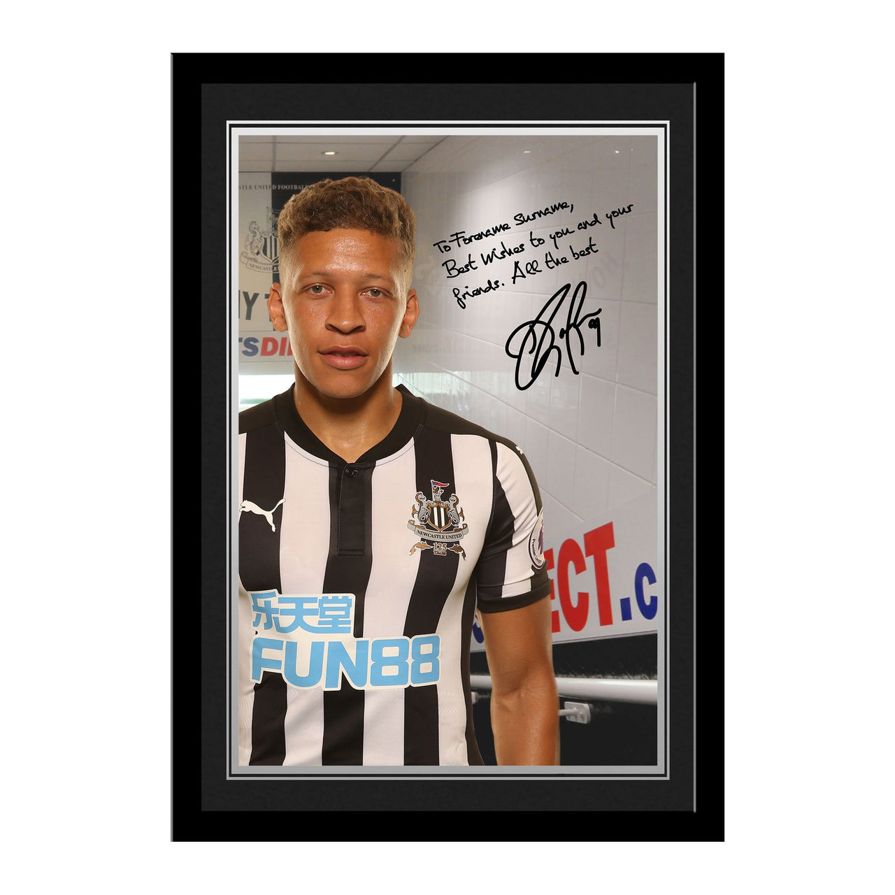 Newcastle United FC Gayle Autograph Photo Framed