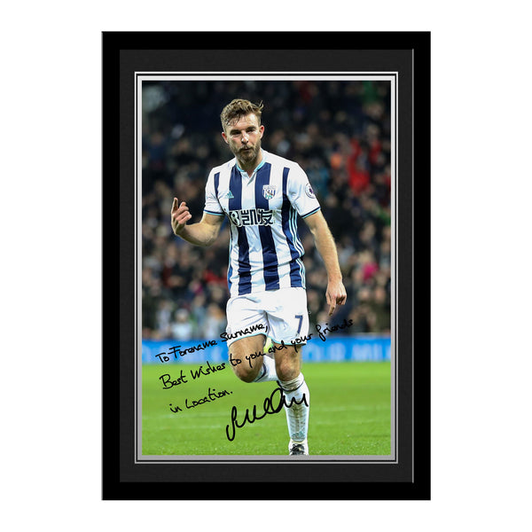 West Bromwich Albion FC Morrison Autograph Photo Framed