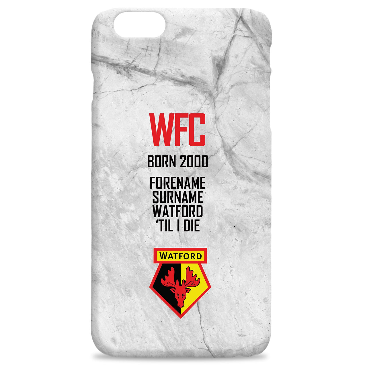 Watford FC 'Til I Die Hard Back Phone Case, Gifts