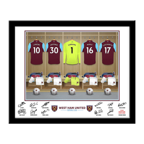 West Ham United FC Goalkeeper Dressing Room Framed Print