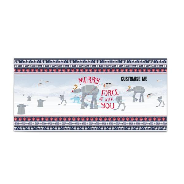 "Star Wars Classic ""Merry Force Be With You"" Christmas Large Towel"