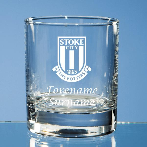 Stoke City FC Crest Old Fashioned Whisky Tumbler