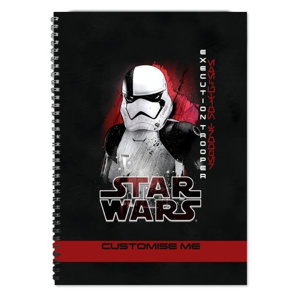 Star Wars Execution Trooper Last Jedi Spray Paint A4 Notebook