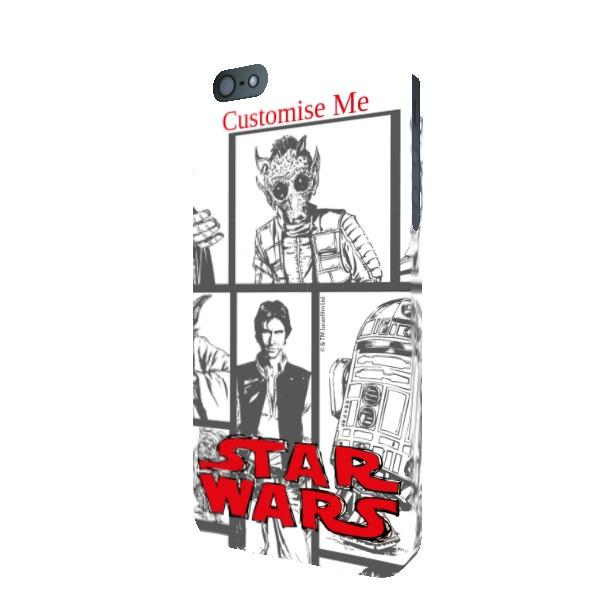 Star Wars Classic Grid Print iPhone 5 5s 5SE Clip Case