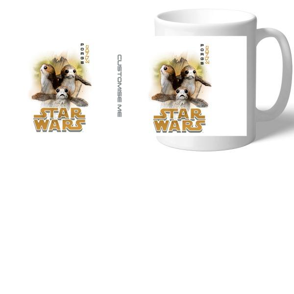 Star Wars Porg Last Jedi Spray Paint Mugs, Gifts