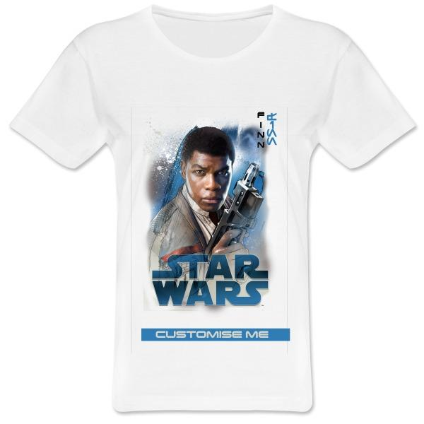 Star Wars Finn Last Jedi Spray Paint Womens T-shirt