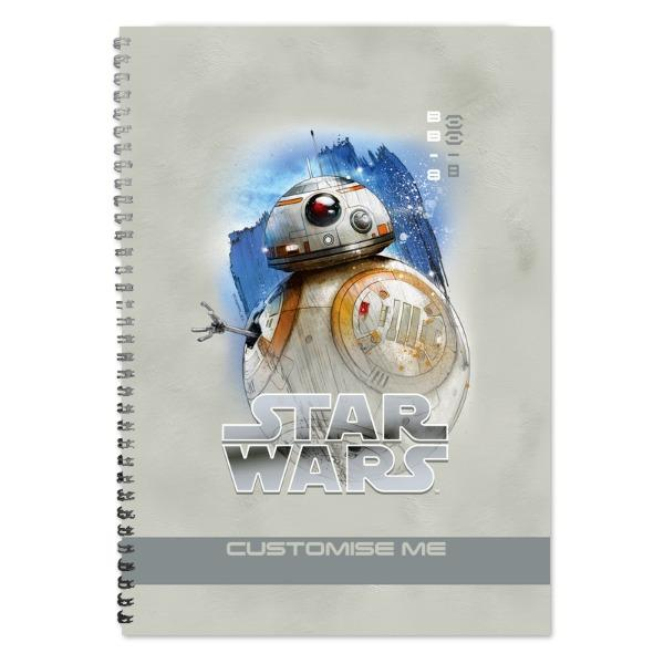 Star Wars BB-8 Last Jedi Spray Paint A4 Notebook