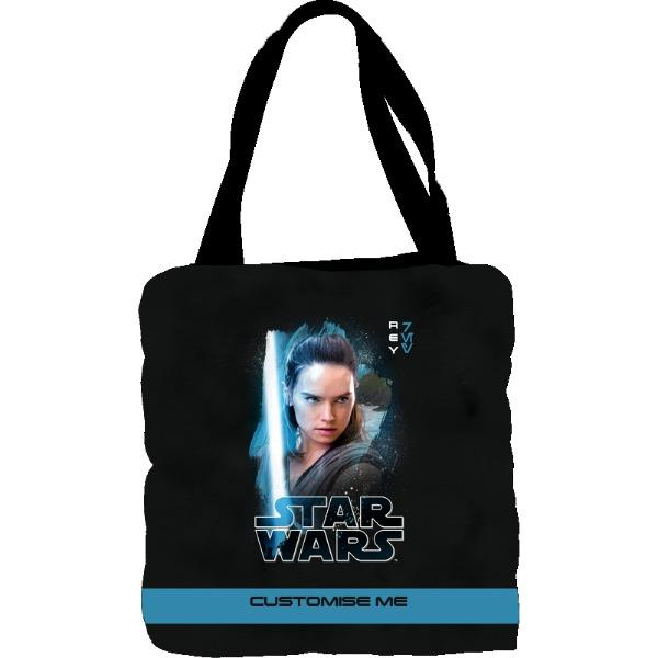 Star Wars Rey Last Jedi Spray Paint Tote Bag