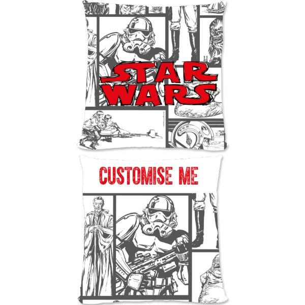 Star Wars Classic Grid Print Large Fibre Cushions, Gifts