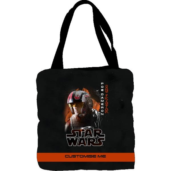 Star Wars Poe Dameron Last Jedi Spray Paint Tote Bag