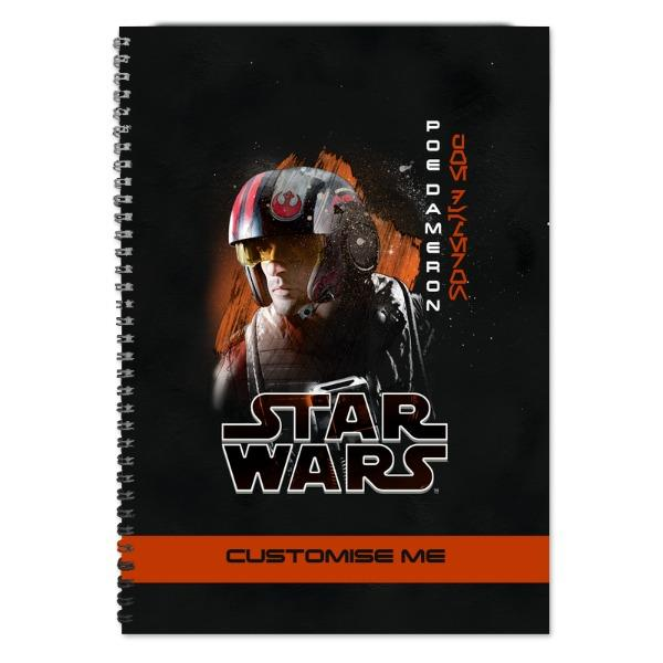 Star Wars Poe Dameron Last Jedi Spray Paint A4 Notebook