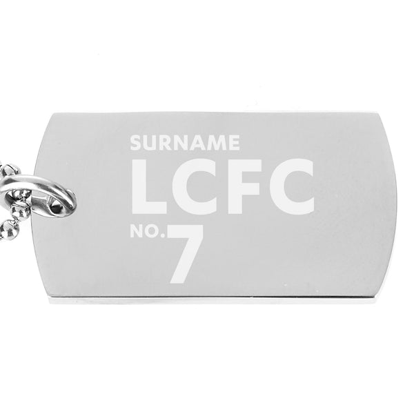 Leicester City FC Number Dog Tag Pendant