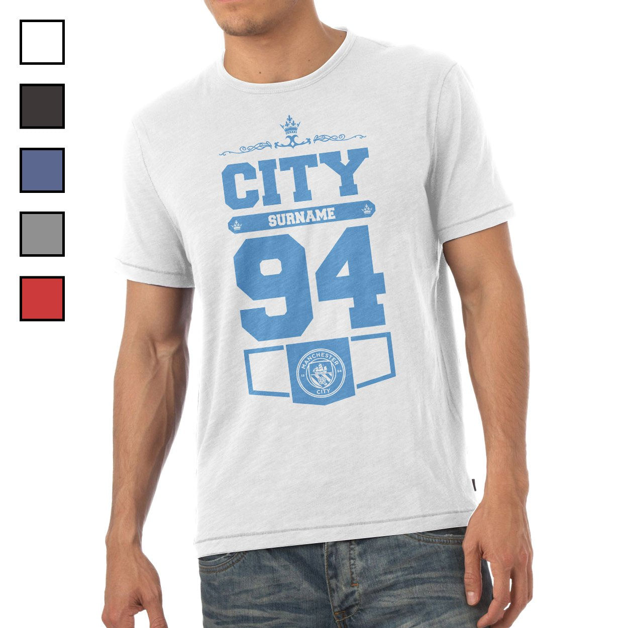 Manchester City FC Mens Club T-Shirt