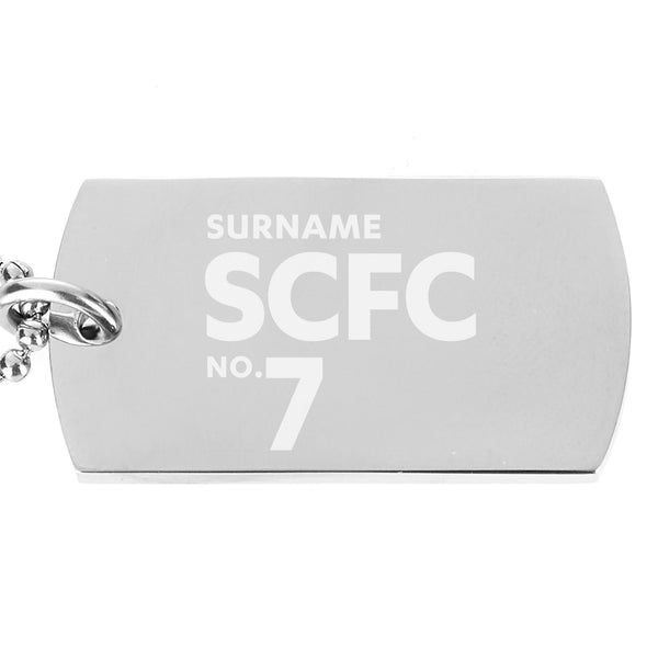 Stoke City FC Number Dog Tag Pendant