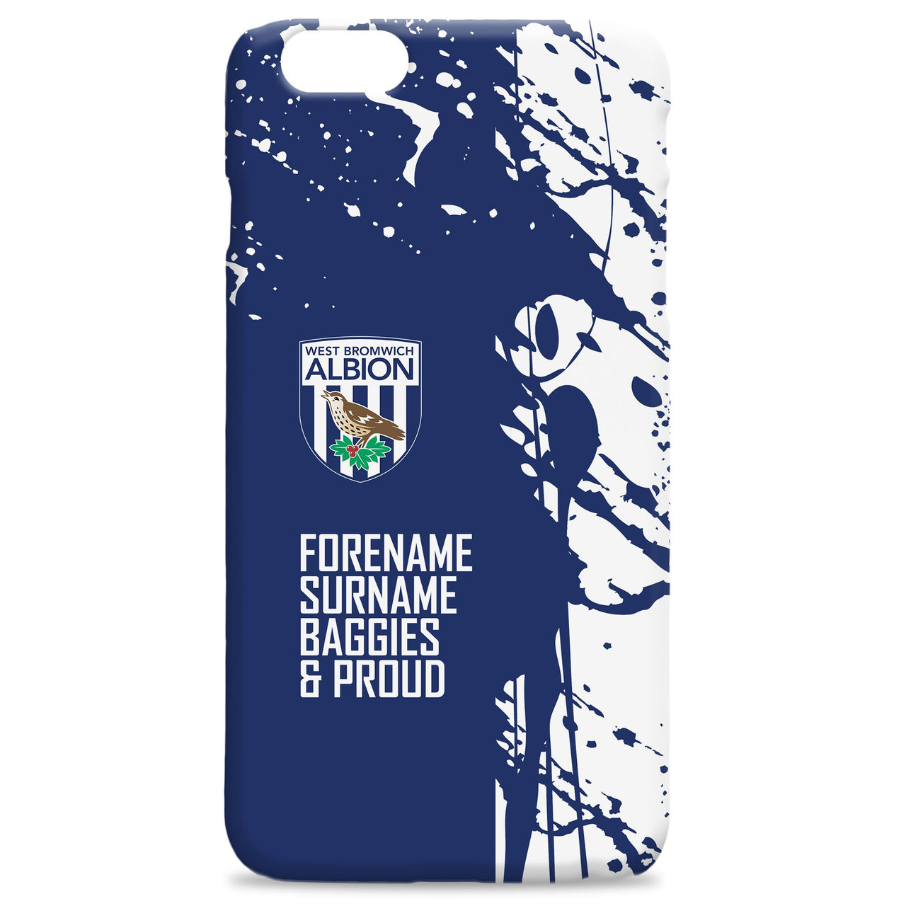West Bromwich Albion FC Proud Hard Back Phone Case, Gifts