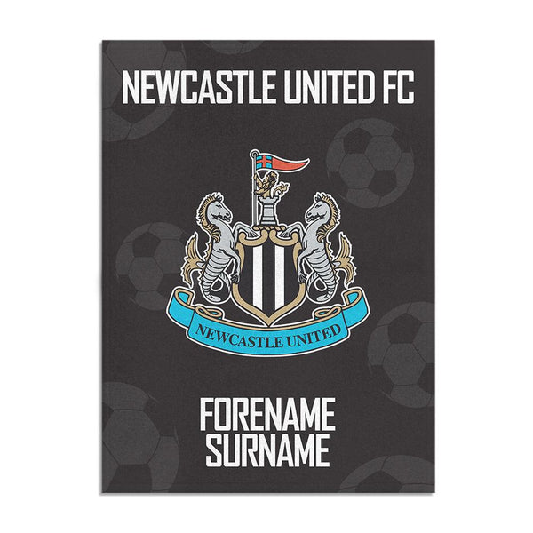 Newcastle United FC Crest Blanket (150cm x 110cm)