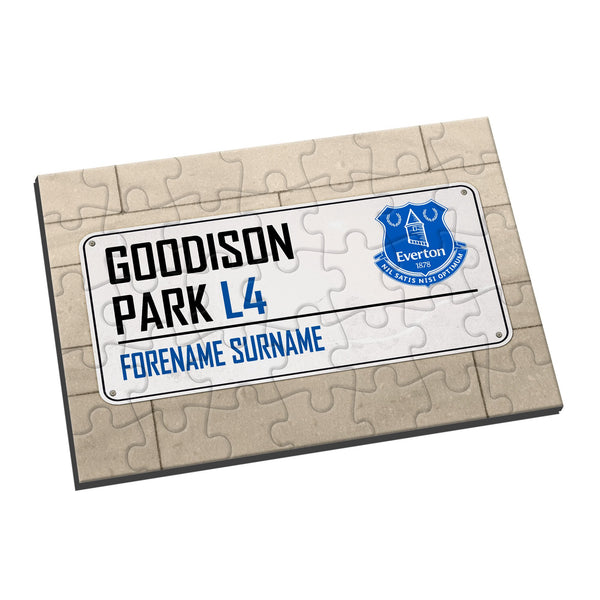 Everton FC Street Sign Jigsaw