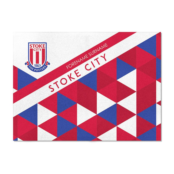 Stoke City FC Patterned Blanket (100cm X 75cm)