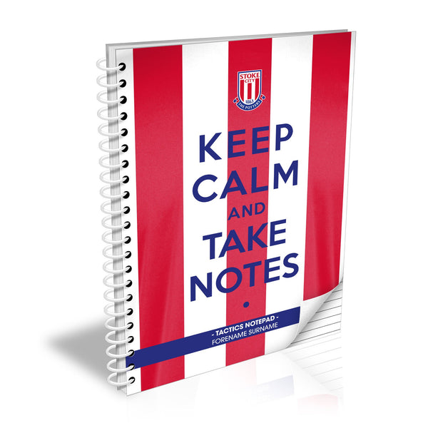 Stoke City FC Keep Calm Notebook