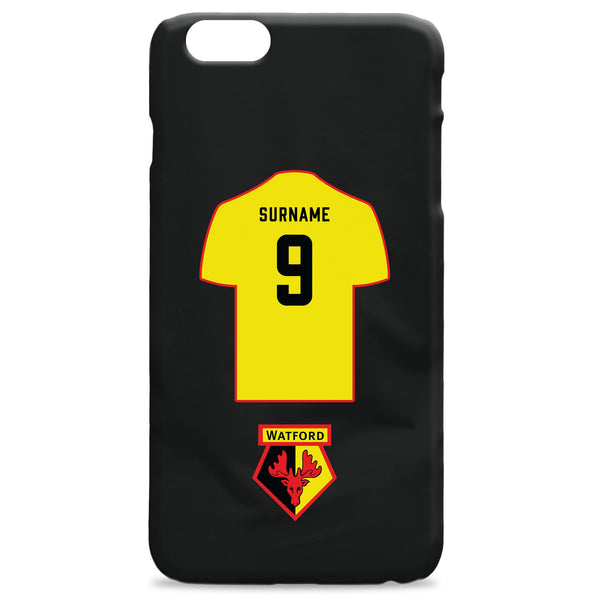 Watford FC Shirt Hard Back Phone Case, Gifts