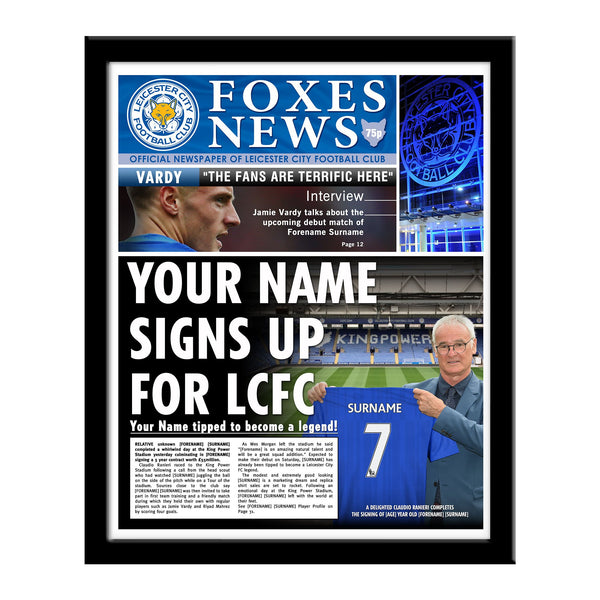 Leicester City FC News Single Page Print