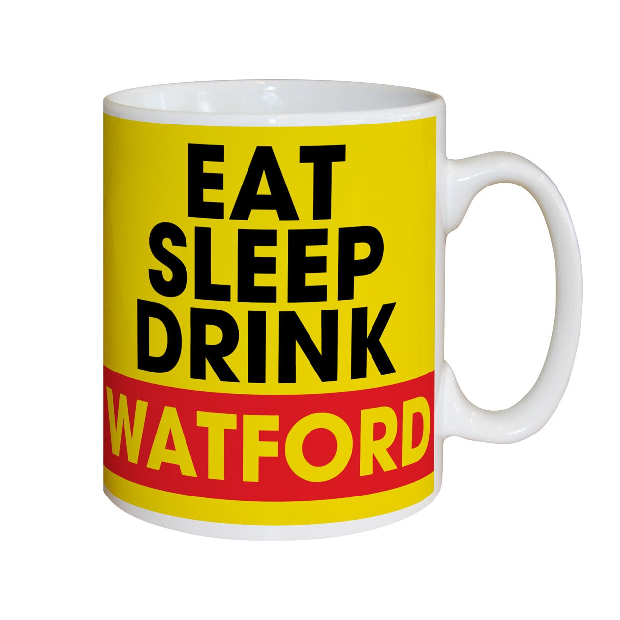 Watford FC Eat Sleep Drink Mugs, Gifts