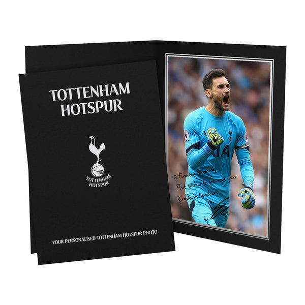 Tottenham Hotspur FC Lloris Autograph Photo Folder