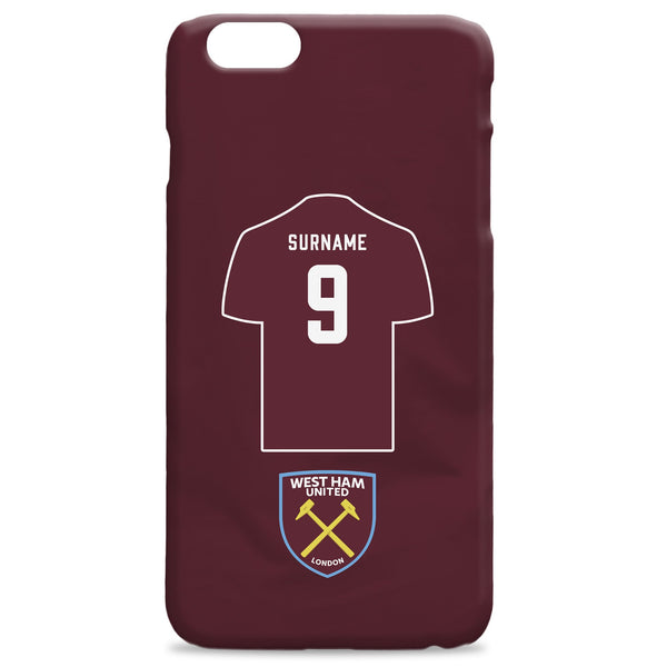 West Ham United FC Shirt Hard Back Phone Case, Gifts
