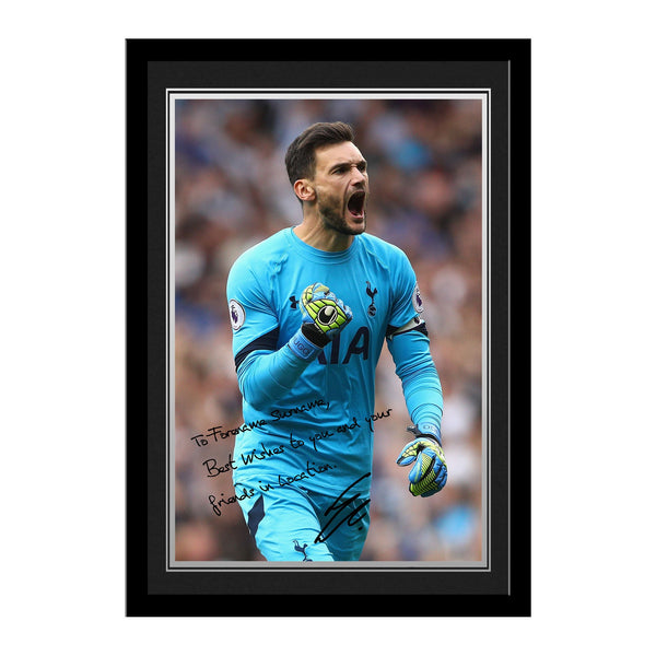 Tottenham Hotspur FC Lloris Autograph Photo Framed
