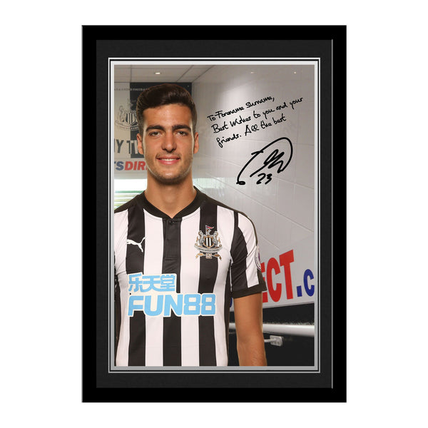 Newcastle United FC Merino Autograph Photo Framed
