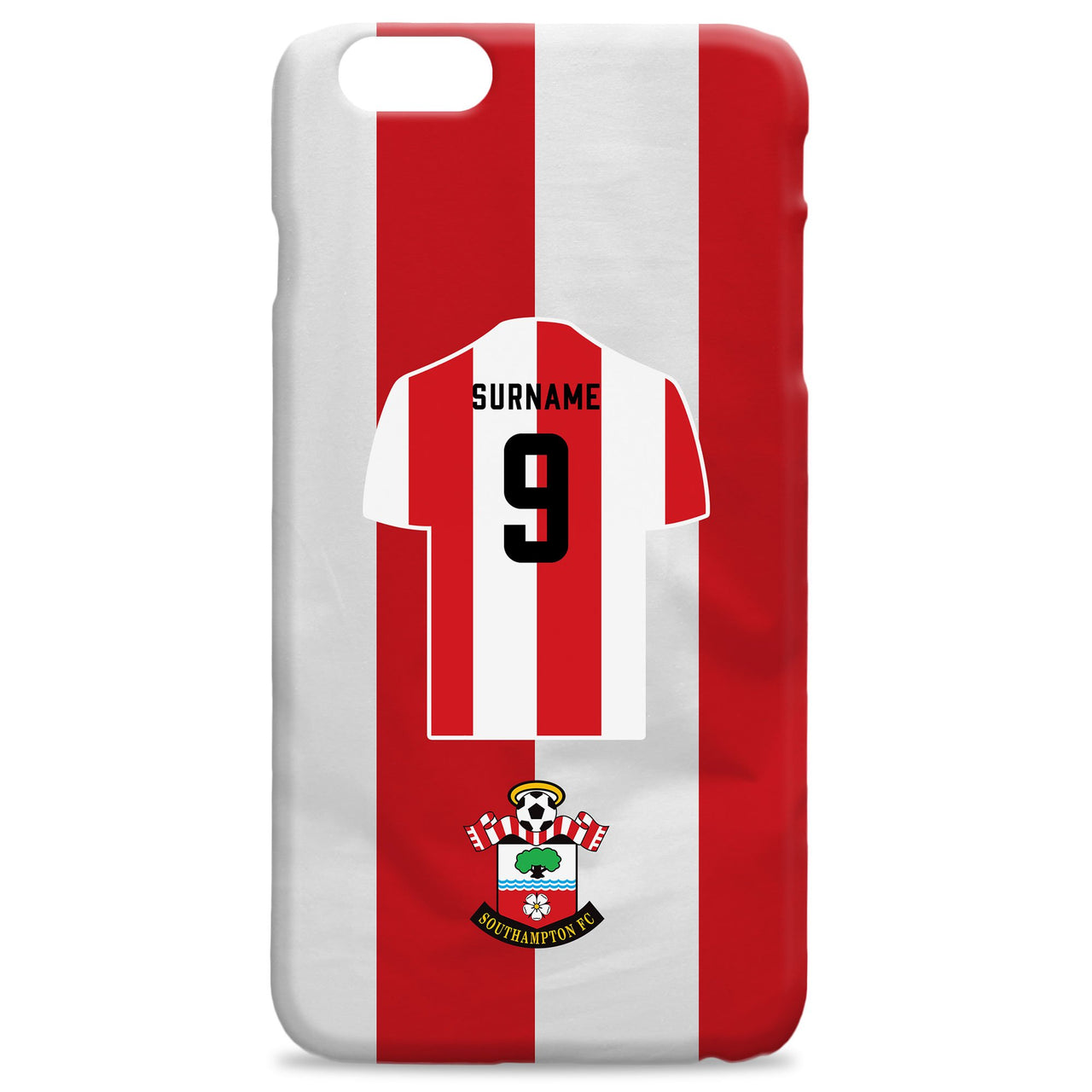Southampton FC Shirt Hard Back Phone Case, Gifts